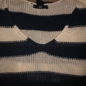 Casual sweater. Nautical vibe.